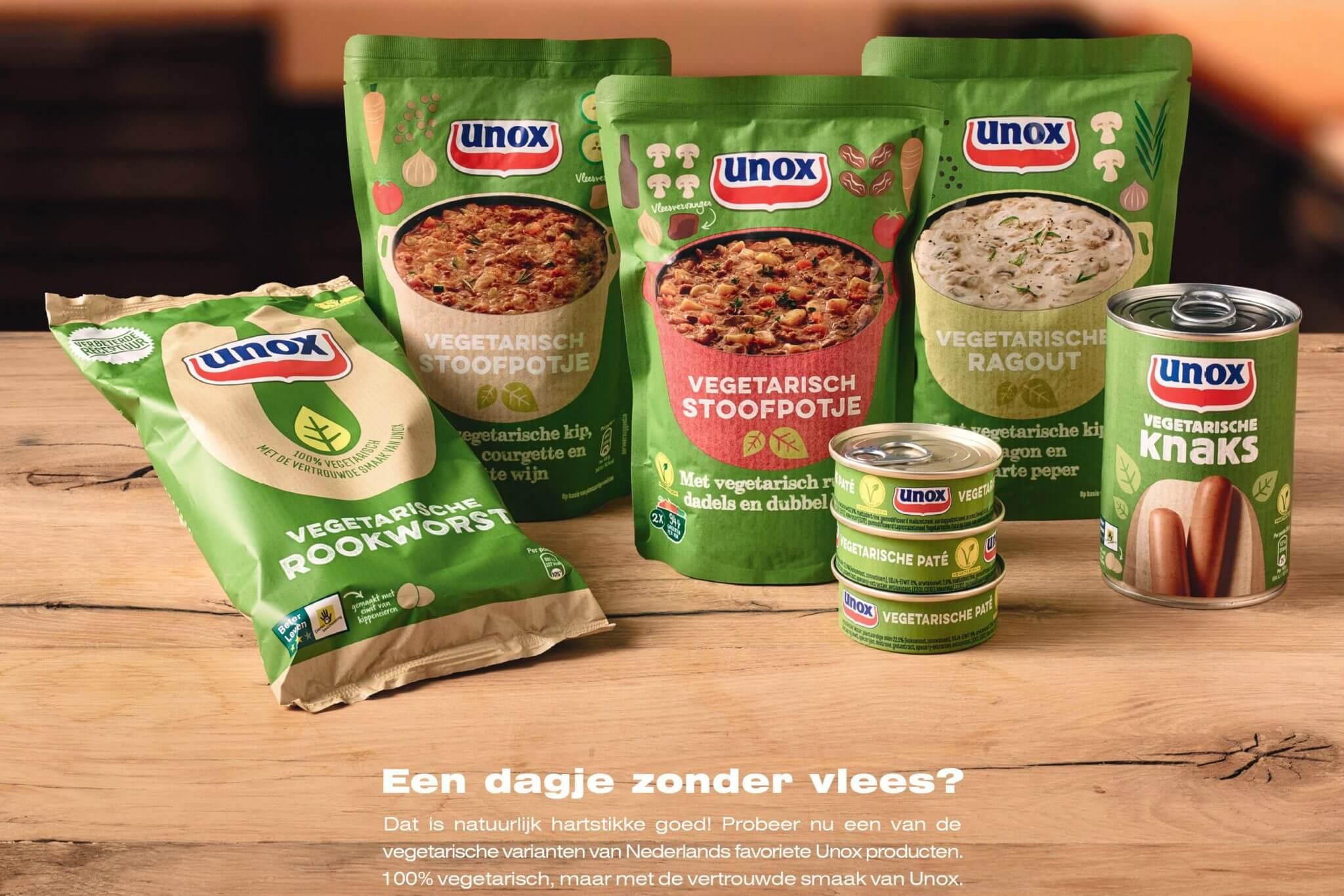 Unox ontwikkelt 10 vegetarische producten