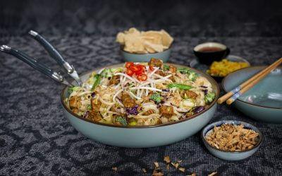 rijstnoedels goreng met tempeh ketjap