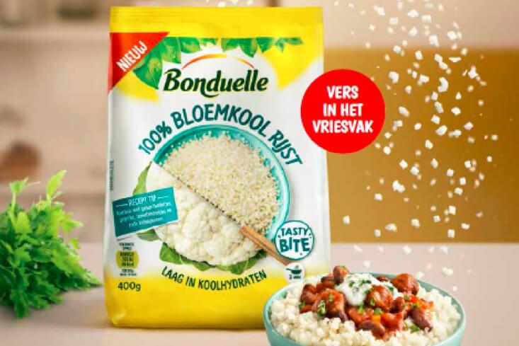 Bonduelle introduceert 100% bloemkoolrijst en 100% broccolirijst