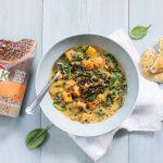 Curry met spinazie en HAK linzen