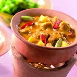 Quorn stukjes met rode curry en mango