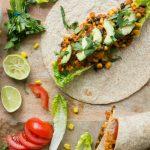 Volkoren tortilla's met Mexicaans gekruide lupine tempeh