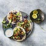 Rijkgevulde taco's met vegan pulled jackfruit