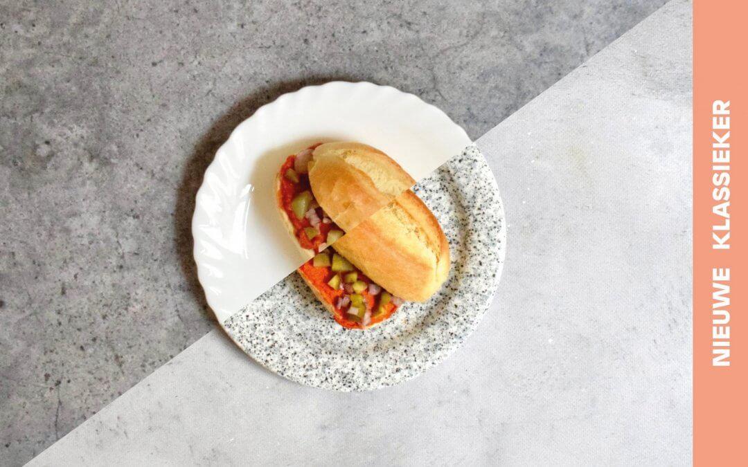 Broodje martino met filet americain