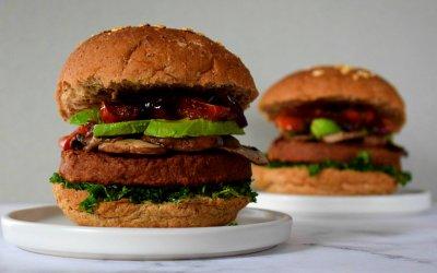 Plantaardige Supreme Burger met Boerenkool en Champignon