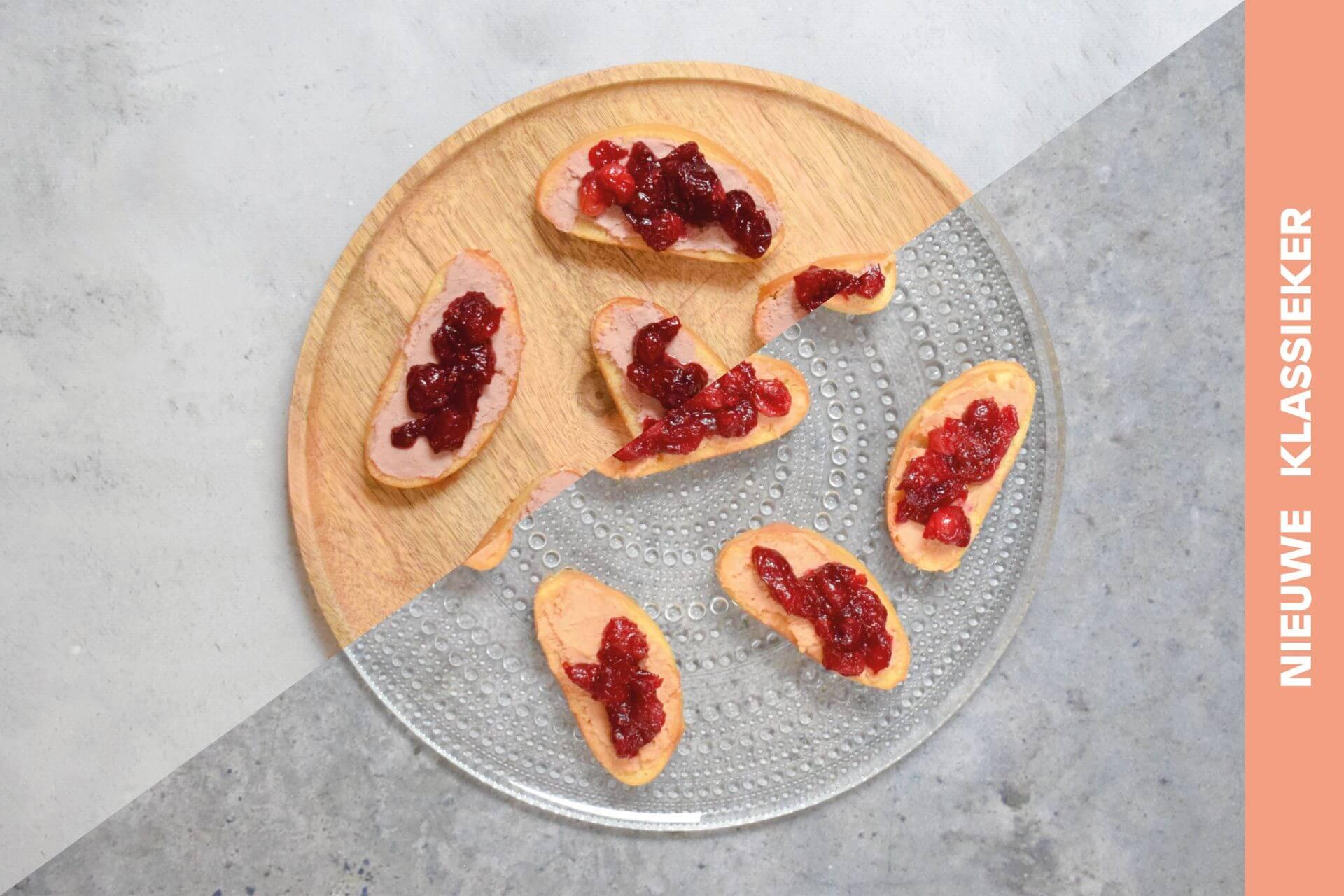 Ciabatta met paté en cranberry compote
