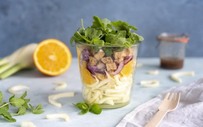 Supersnelle venkel-sinaasappel salade met Tofu à la Minute