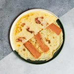 Pannenkoeken met bacon en ahornsiroop
