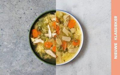Vegetarische kippensoep met vermicelli