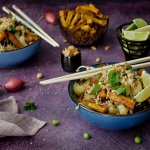 Pad thai met krokante tofu