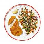 Plant Krokante Kipschnitzel met Aziatische coleslaw