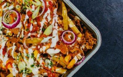 Loaded Ovenfriet met plantaardige kebab