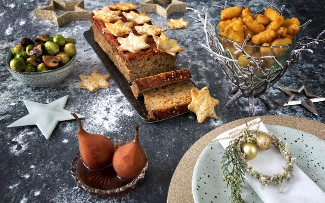 Pronkstuk: vegetarisch gehaktbrood met zoete topping