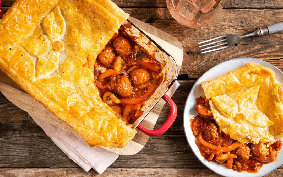 Pronkstuk: Italiaanse pot pie met plantaardige gehaktballen