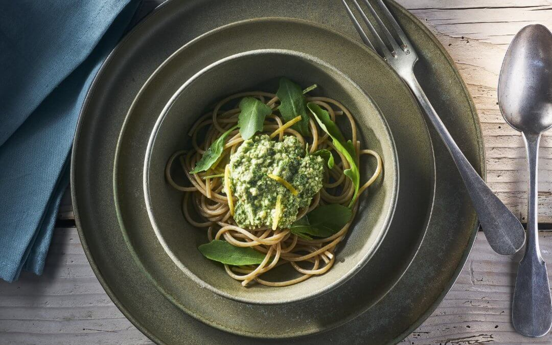 Spaghetti met verrassende walnotensaus
