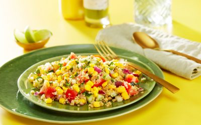 Quinoa tabouleh met maïs