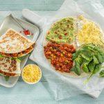 Quesadilla's met spinazie en bonen
